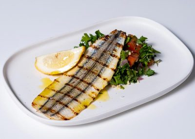 Garfish and Salad