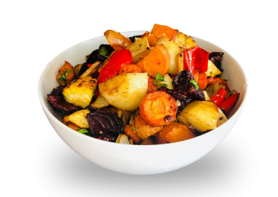 Roast Vegetables with Balsamic & Mustard Seeds